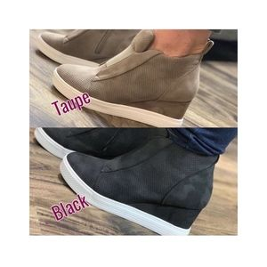 Shoes - Zoey Wedge Sneaker Nubuck Taupe with Oil Finish